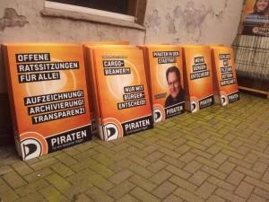 Wahlplakate der Piraten Hagen